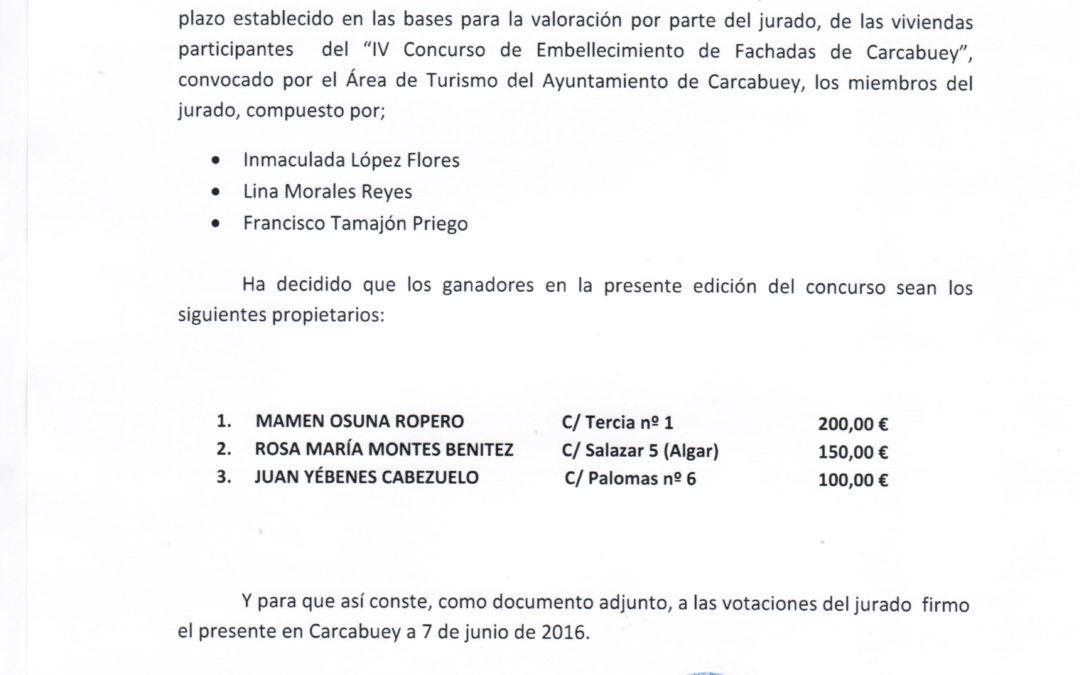 FALLO DEL JURADO DEL CONCURSO DE FACHADAS 1