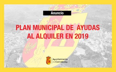 PLAN MUNICIPAL DE AYUDAS AL ALQUILER 2019