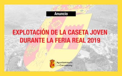 EXPLOTACIÓN DE LA CASETA JOVEN DURANTE LA FERIA REAL 2019