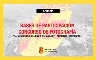 CONCURSO DE FOTOGRAFÍA –  MEMBRILLO FESTIVAL  2019