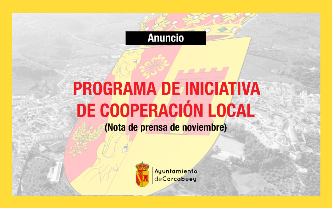 PROGRAMA DE INICIATIVA DE COOPERACIÓN LOCAL