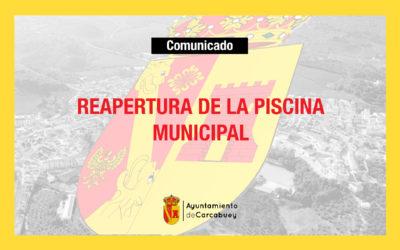 [COMUNICADO] Reapertura de la Piscina Municipal