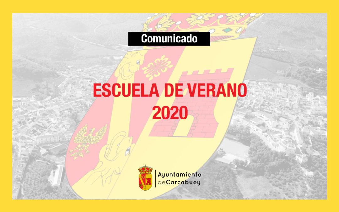 Comunicado escuela de verano 2020