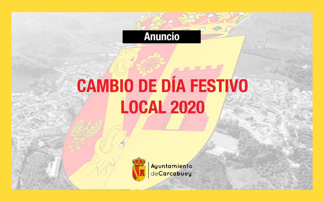 Cambio de día festivo local 2020