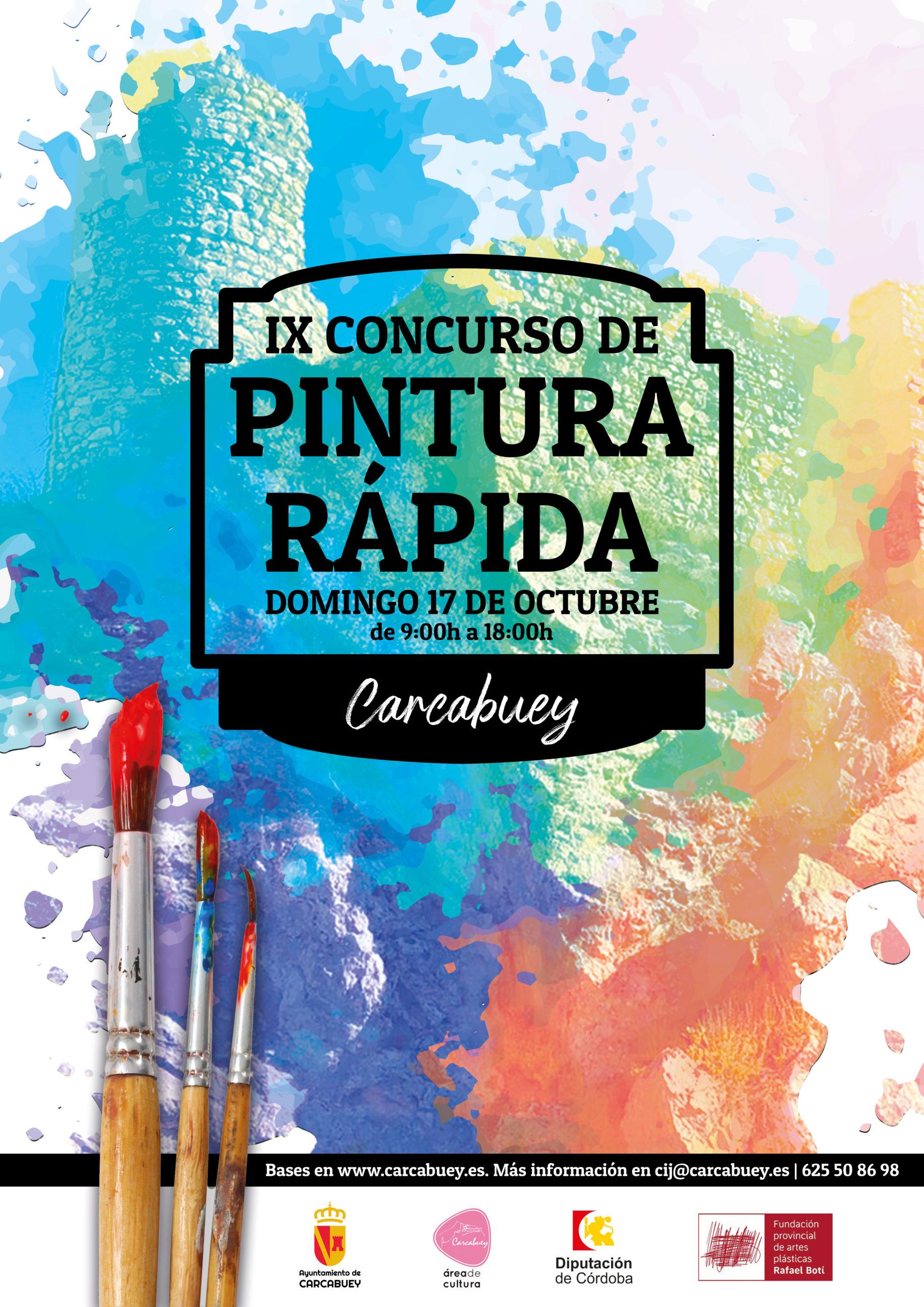 Cartel IX Concurso de Pintura Rápida en Carcabuey